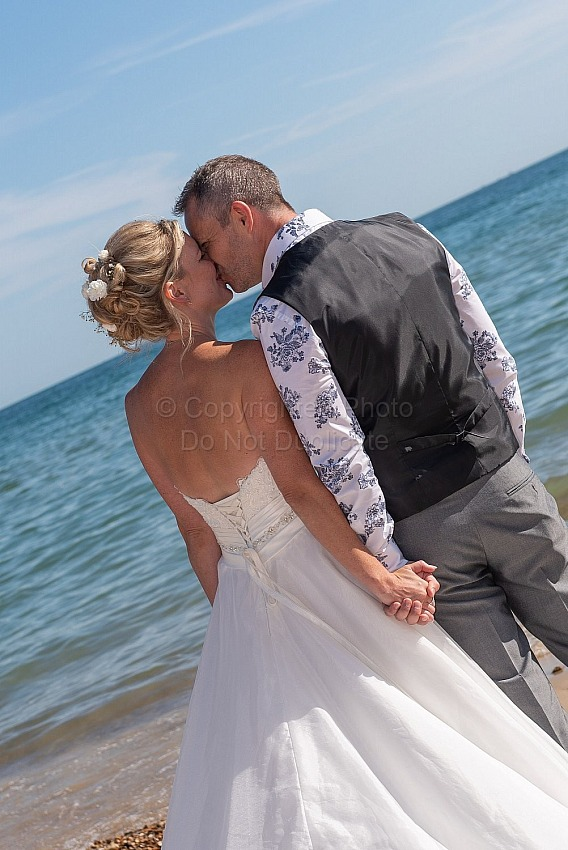 Sally and Adrian at Bournemouth Beach Weddings