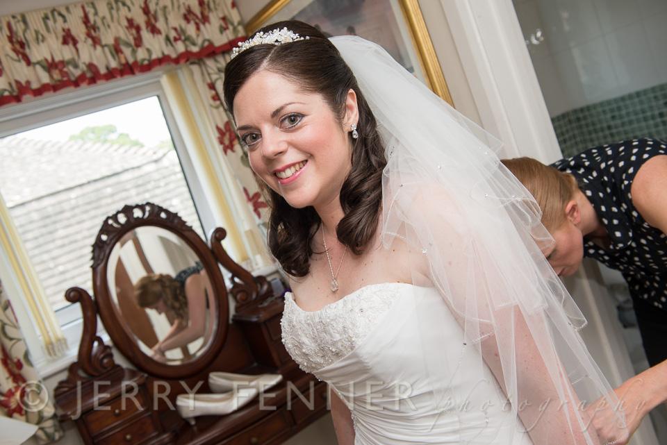Ashleigh's wedding preparations in Highcliffe, Dorset