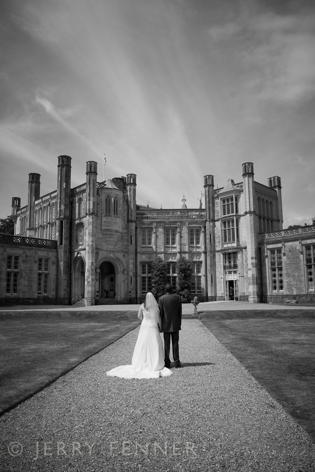 Highcliffe Castle Wedding black and white photograph