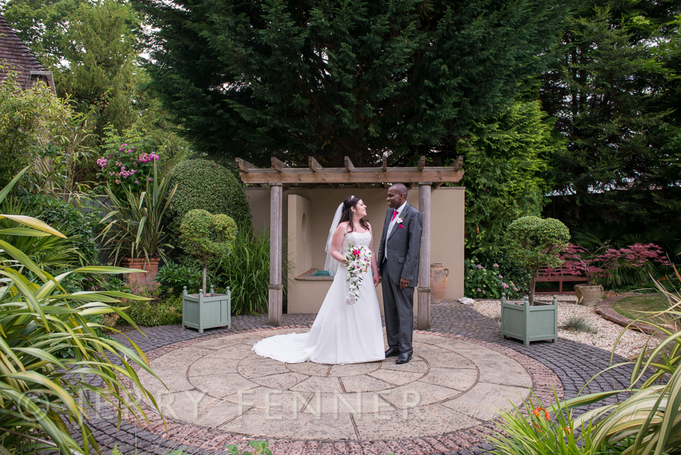 In the garden of the bridal suite at The Lord Bute in Highcliffe
