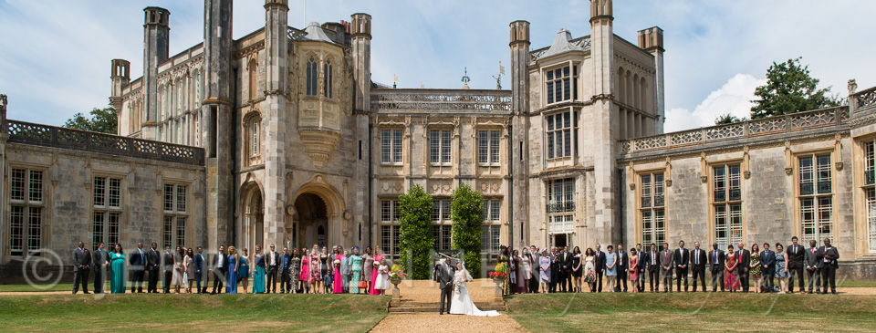 The wedding party at Highcliffe Castle