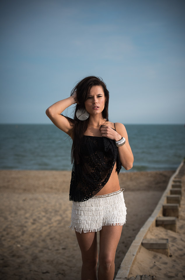 Sexy outfit for beach model photography