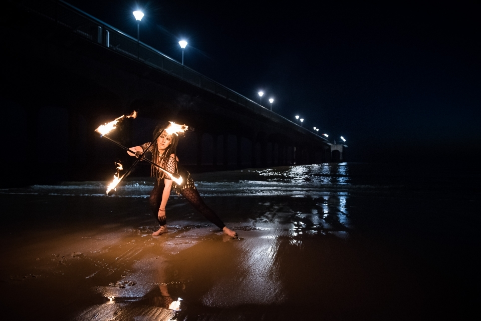 Boscombe Pier Fire Dancer