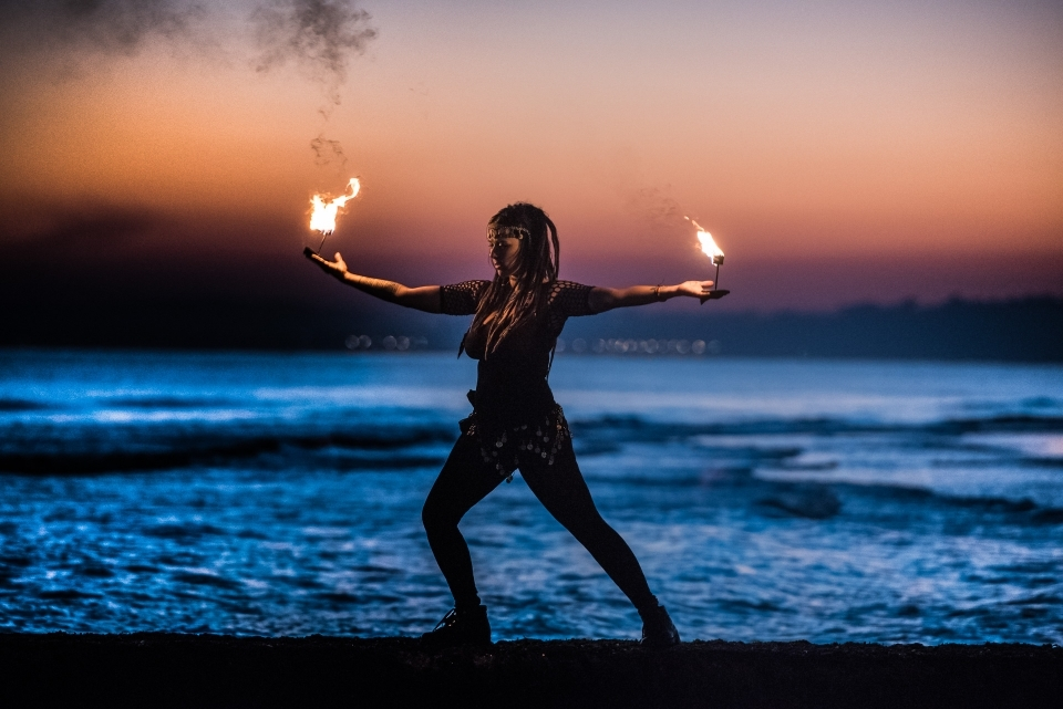 Sunset Fire Peformance