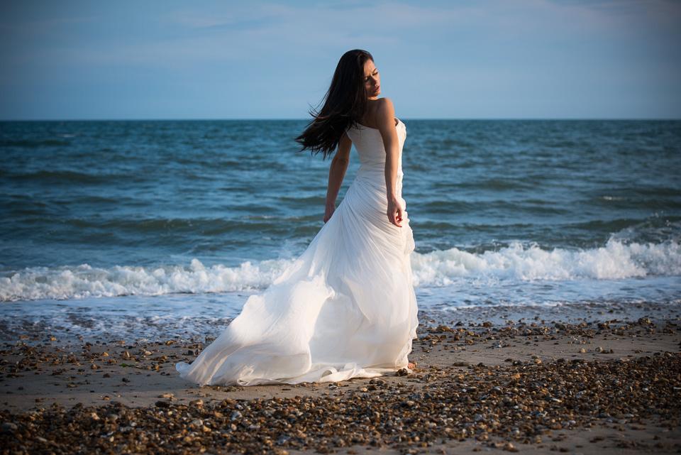 Treasure the dress beach photography