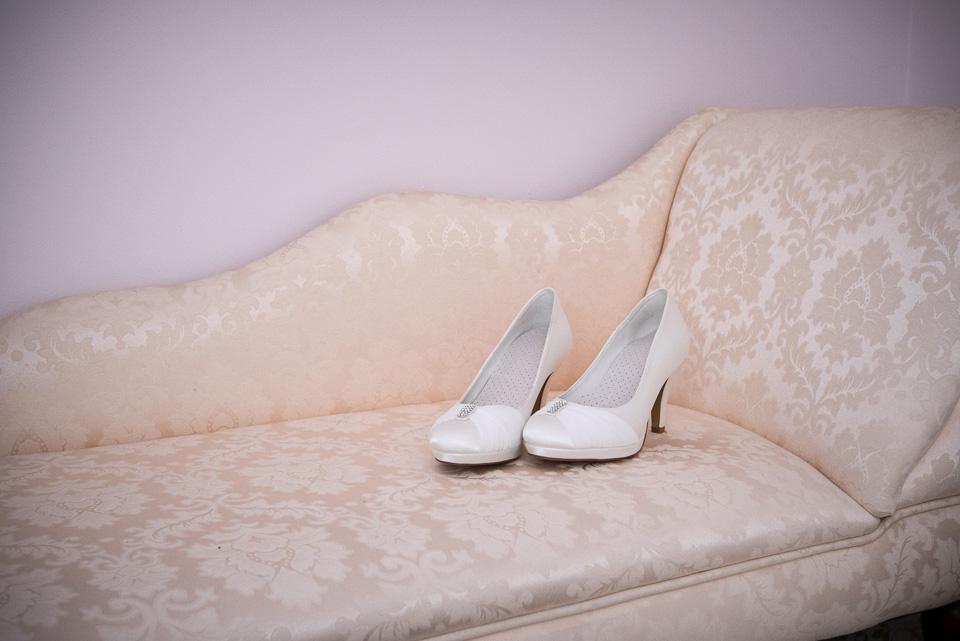 Her beautiful wedding shoes
