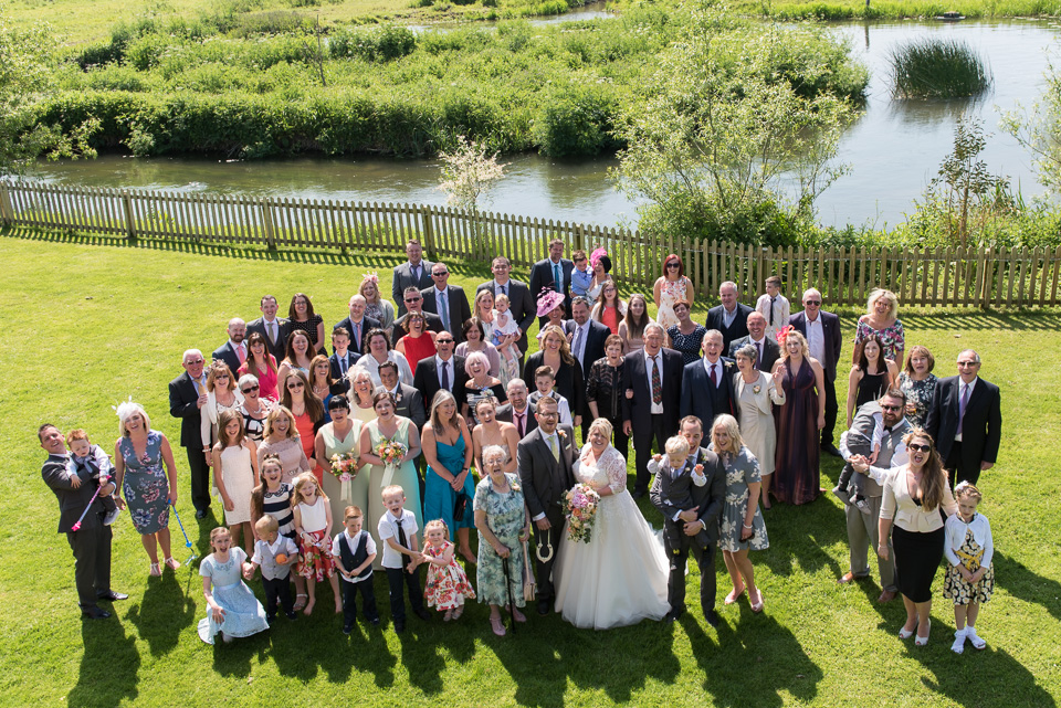 The wedding party at Sopley Mill