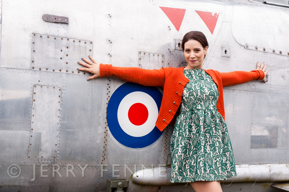 Pre-wedding photography at Bournemouth Aviation Museum