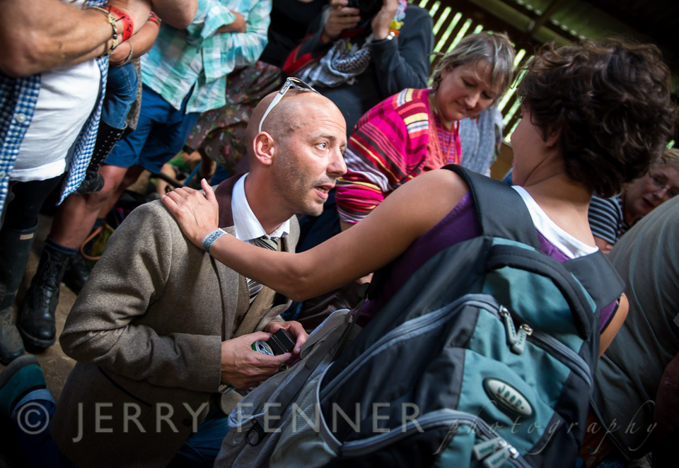 Peter's proposal to Cath at Purbeck Folk Valley Festival