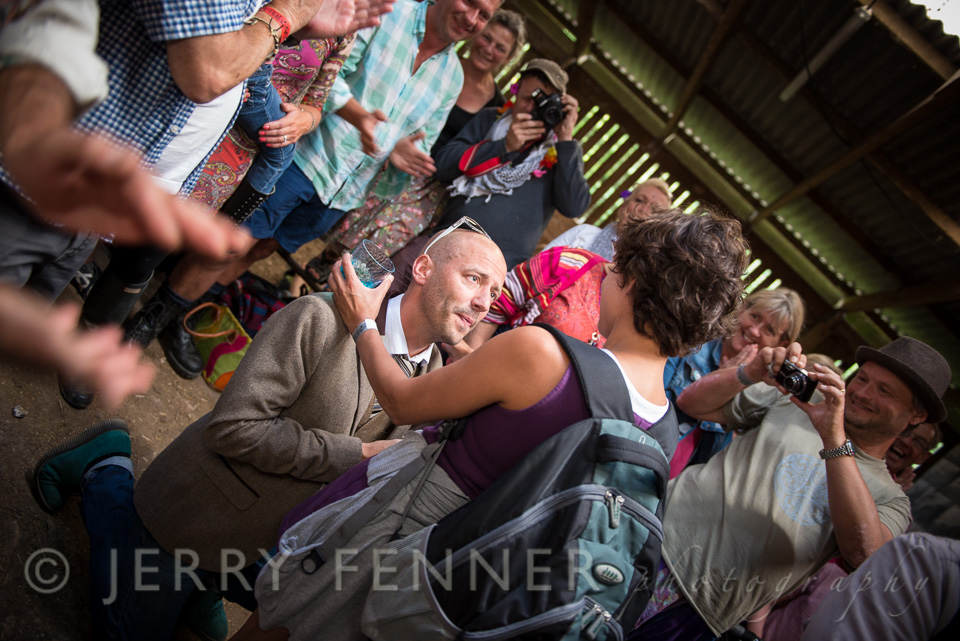 Wedding proposal during a gig at Purbeck Valley Folk Festival