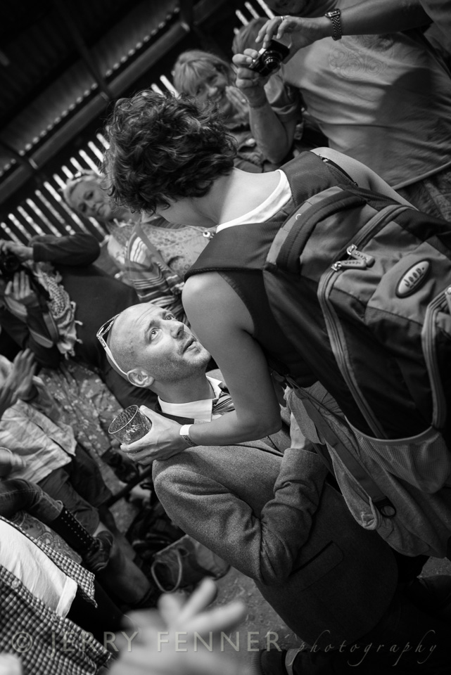 Wedding proposal for Cath at Purbeck Folk Valley Festival