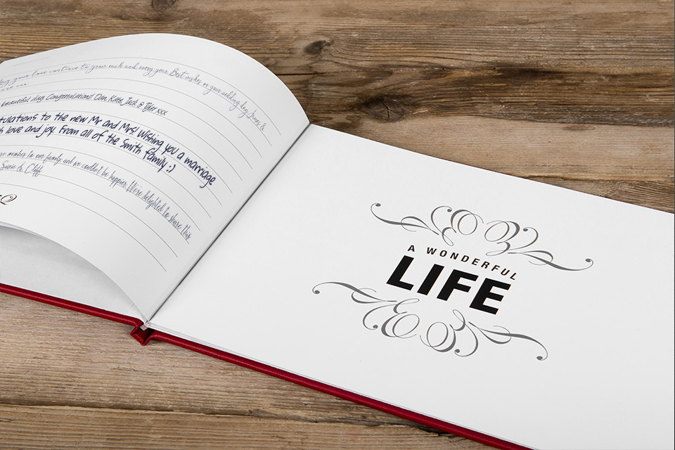 Signing Book for a wedding