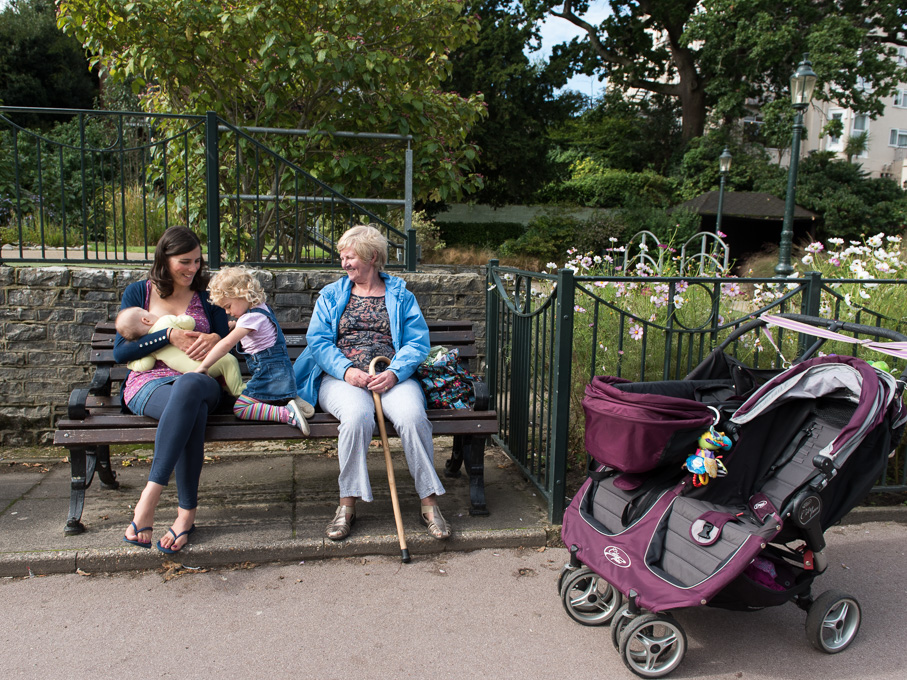 Breastfeeding with a toddle