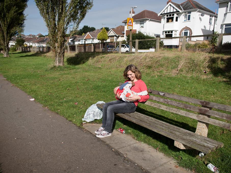 Mid-morning breastfeeding