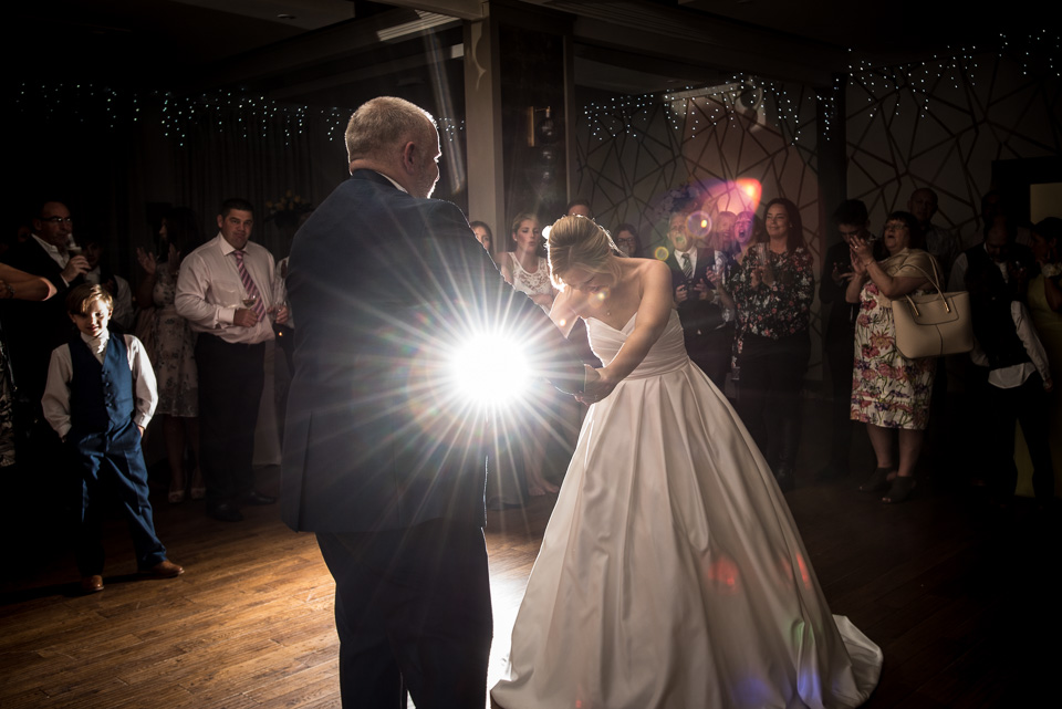 Finishing their Wedding Dance at The Orchid Hotel in Bournemouth