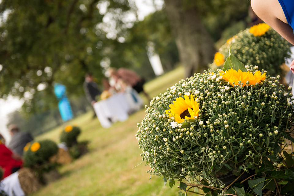 Beautifully decorated setting for their New Forest wedding