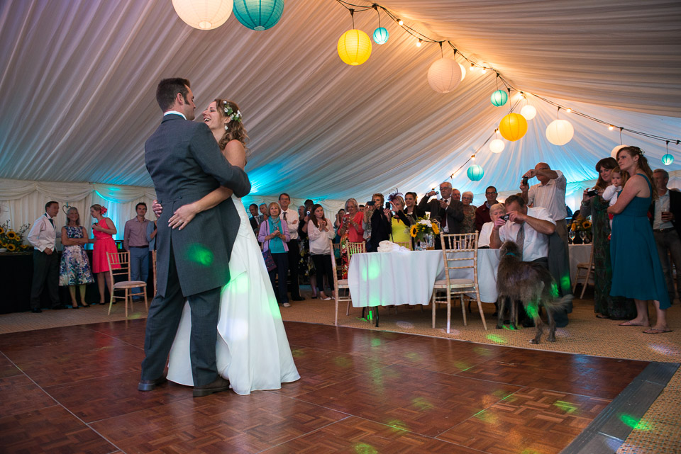 First Dance in the marquee at their New Forest wedding