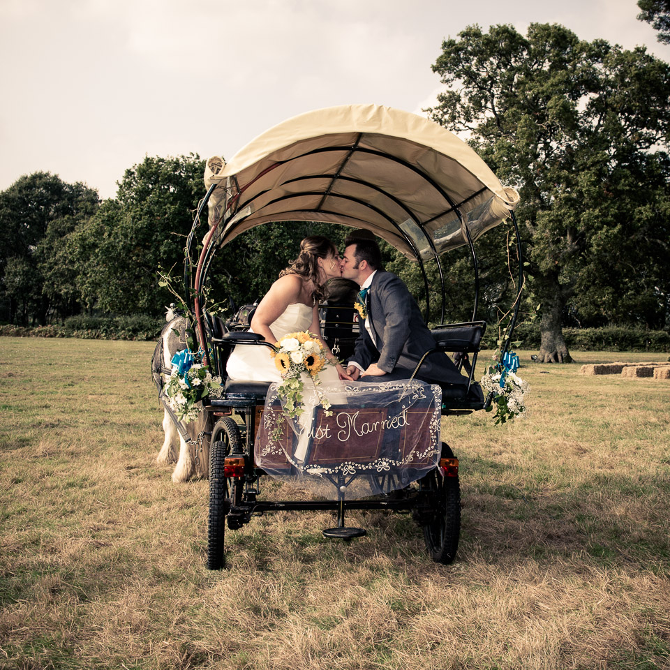 Vintage filter for a New Forest wedding photograph