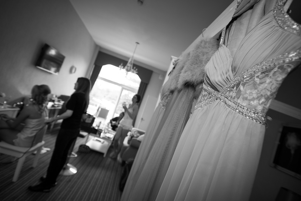Bridal preparations at The Queens, in Bournemouth