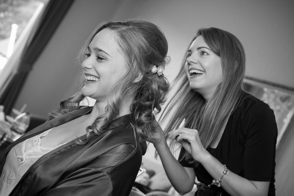 Finshing the hairdressing