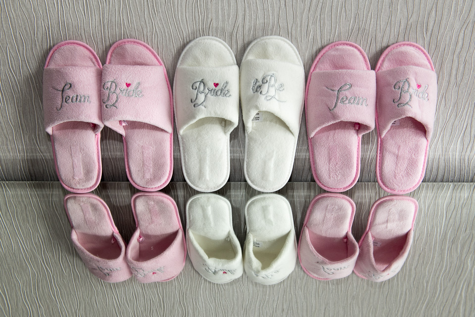 Slippers, slippers and more wedding slippers