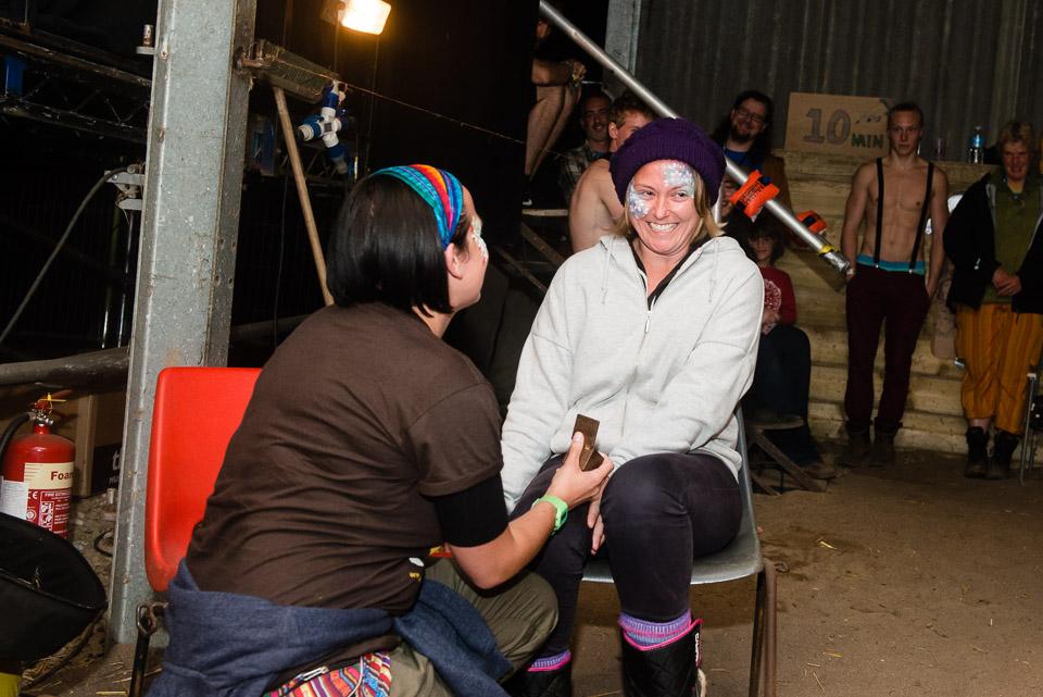 Wedding proposal on one knee